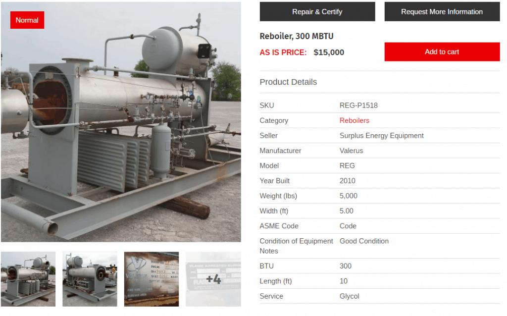 Used and Surplus Reboilers - Surplus Energy Equipment