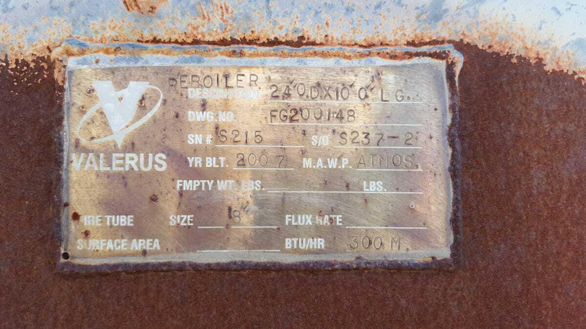 Reboiler, 300 MBTU, Glycol REG-S215