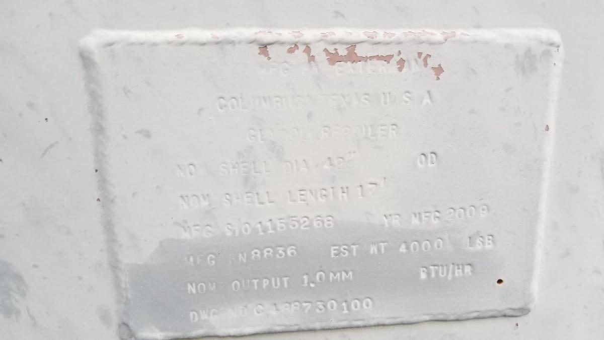 Reboiler, 1 MMBTU, Glycol REG-8836